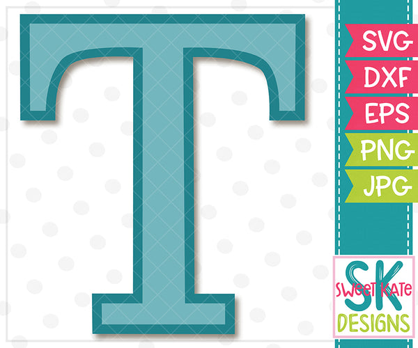 Greek Alphabet: Tau SVG DXF EPS PNG JPG - Sweet Kate Designs