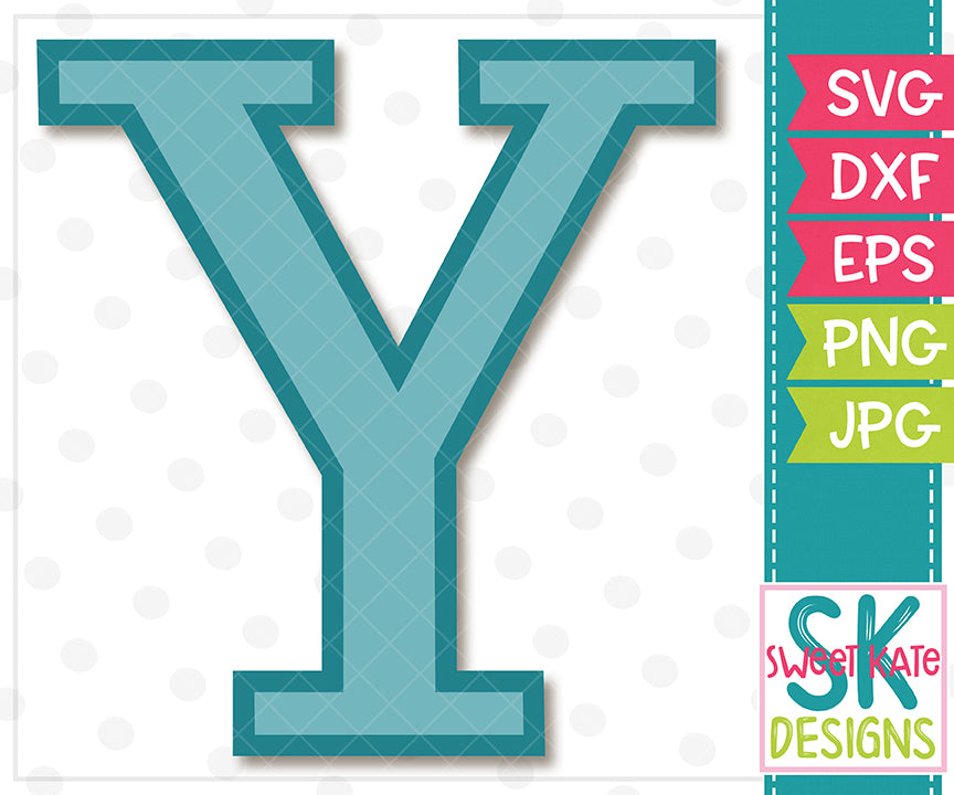 Greek Alphabet: Upsilon SVG DXF EPS PNG JPG - Sweet Kate Designs