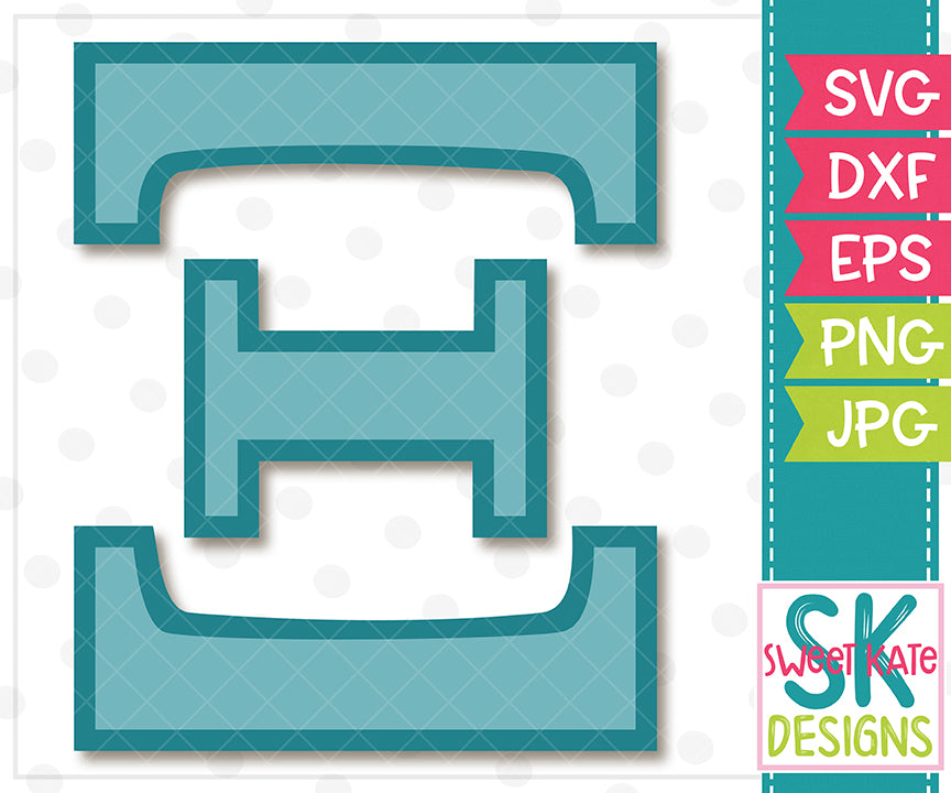 Greek Alphabet: Xi SVG DXF EPS PNG JPG - Sweet Kate Designs