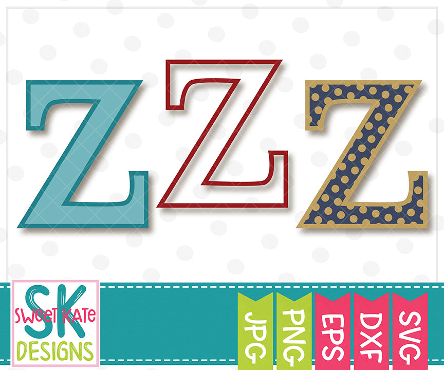 Greek Alphabet: Zeta SVG DXF EPS PNG JPG - Sweet Kate Designs