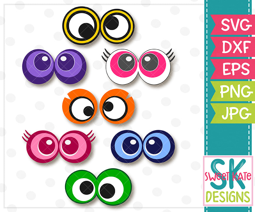 Halloween Eyeballs SVG DXF EPS PNG JPG - Sweet Kate Designs