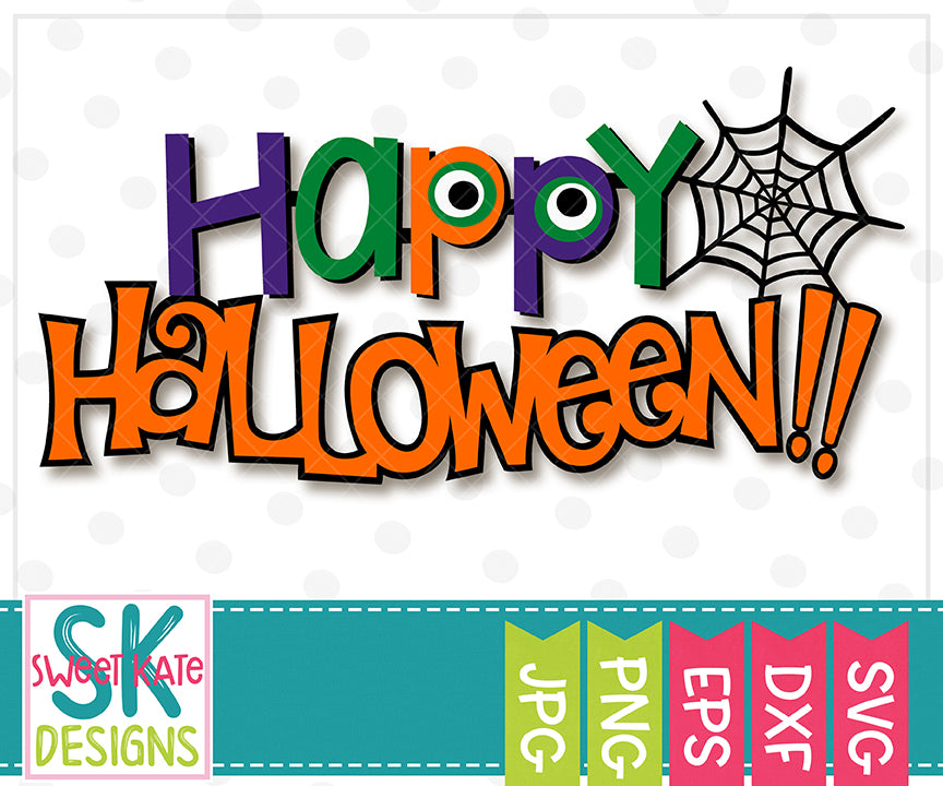 Happy Halloween SVG DXF EPS PNG JPG