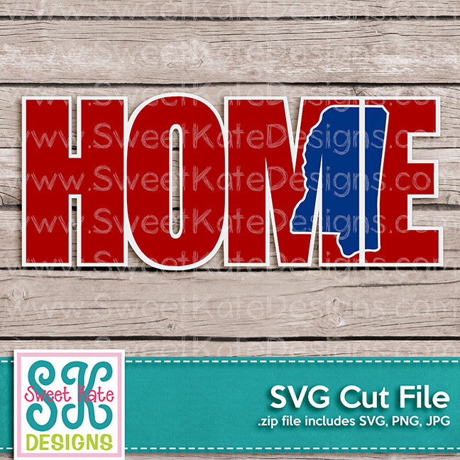 Home with Knockout Mississippi SVG - Sweet Kate Designs