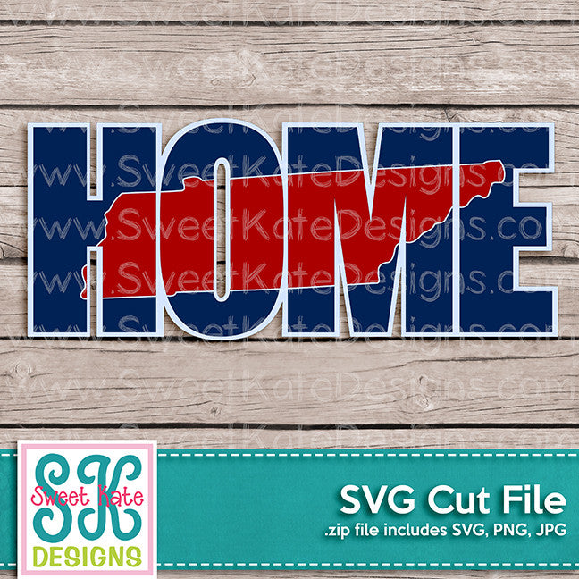 Home with Knockout Tennessee SVG - Sweet Kate Designs