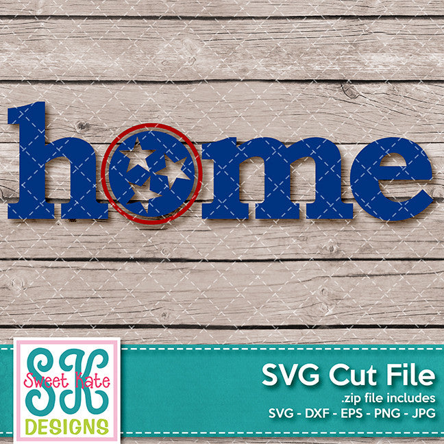 Home with TriStar Circle SVG DXF EPS PNG JPG - Sweet Kate Designs