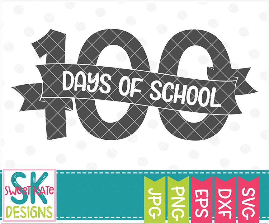 I Survived 100 Days of School SVG DXF EPS PNG JPG - Sweet Kate Designs