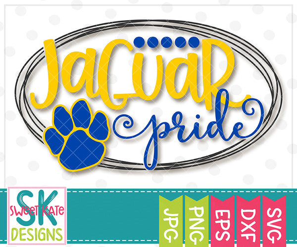 Jaguar Pride SVG DXF EPS PNG JPG - Sweet Kate Designs