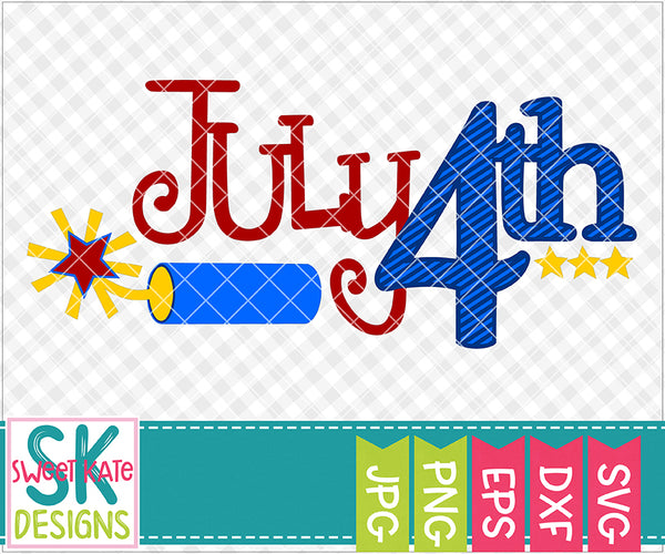 July 4th SVG DXF EPS PNG JPG - Sweet Kate Designs