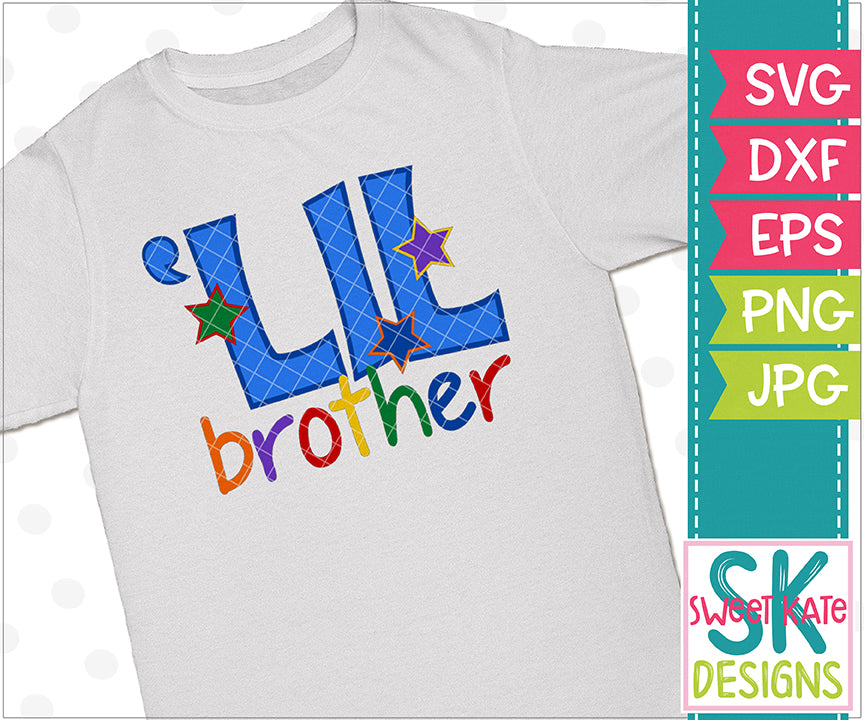 Lil Brother SVG DXF EPS PNG JPG - Sweet Kate Designs