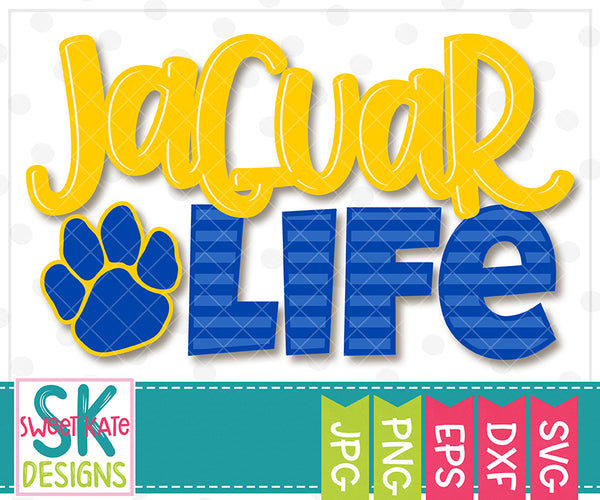 *NEW* Livin' That Jaguar Life SVG DXF EPS PNG JPG - Sweet Kate Designs