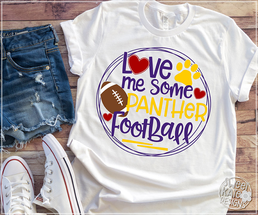 Love Me Some Panther Football SVG DXF EPS PNG JPG - Sweet Kate Designs