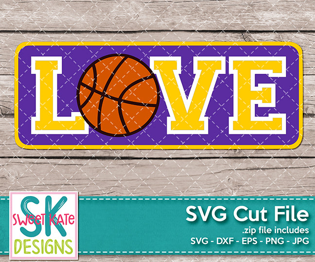 Love with Basketball - Sweet Kate Designs