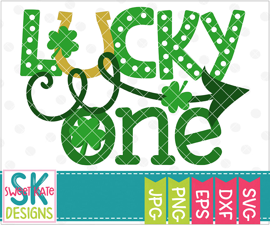 Lucky One SVG DXF EPS PNG JPG - Sweet Kate Designs