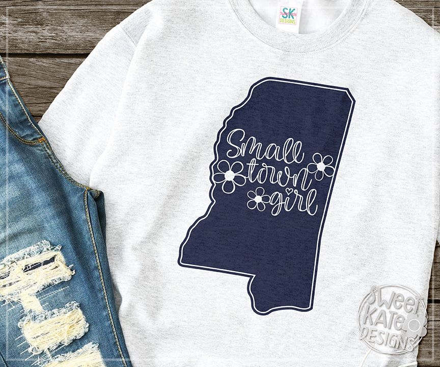 Mississippi Small Town Girl SVG DXF EPS PNG JPG - Sweet Kate Designs