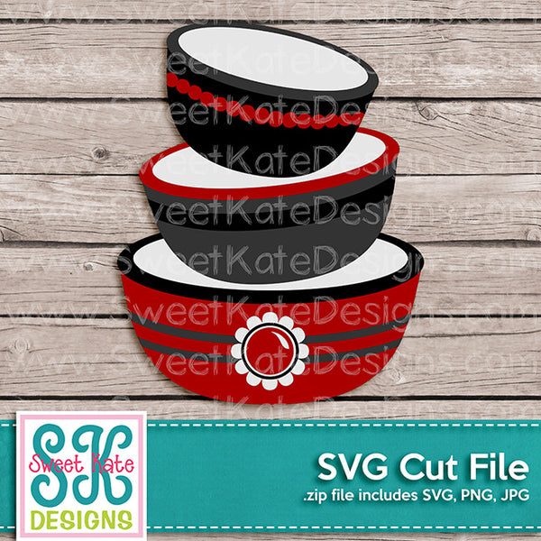 Mixing Bowls SVG - Sweet Kate Designs
