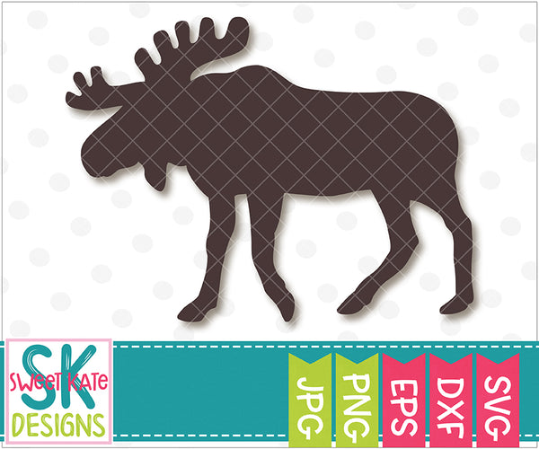 Moose Silhouette SVG DXF EPS PNG JPG
