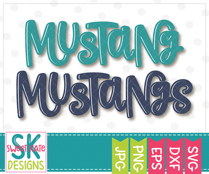 Mustang/Mustangs SVG DXF EPS PNG JPG - Sweet Kate Designs