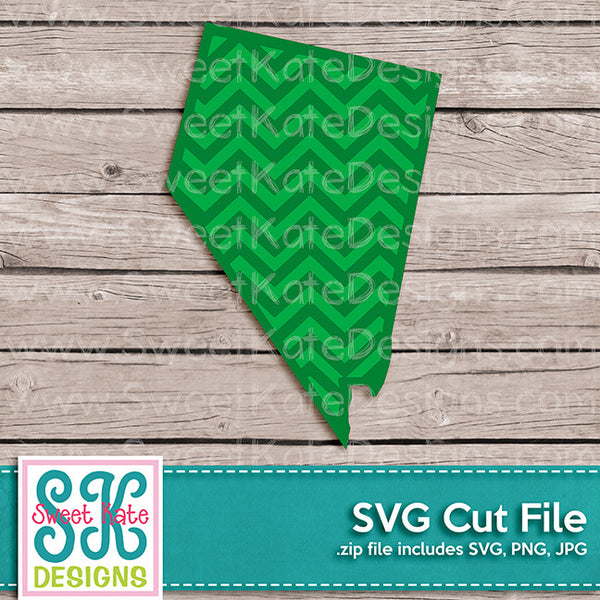 Nevada with Chevron Pattern SVG - Sweet Kate Designs