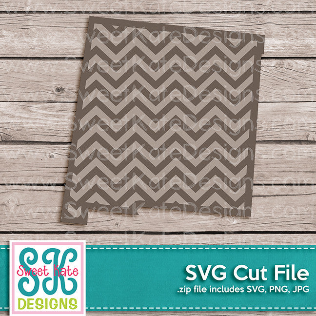 New Mexico with Chevron Pattern SVG - Sweet Kate Designs