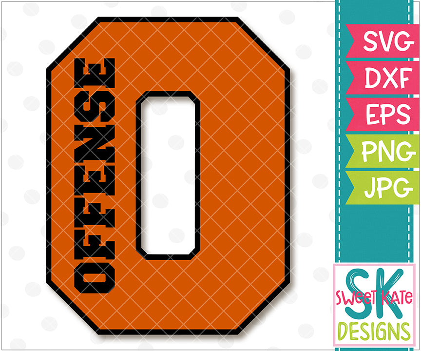 {O} Offense SVG DXF EPS PNG JPG - Sweet Kate Designs
