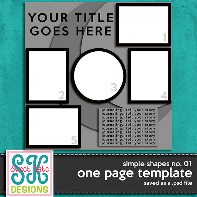 One Page Template Simple Shapes No. 01 - Sweet Kate Designs