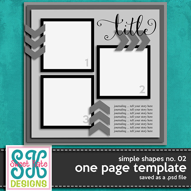 One Page Template Simple Shapes No. 02 - Sweet Kate Designs