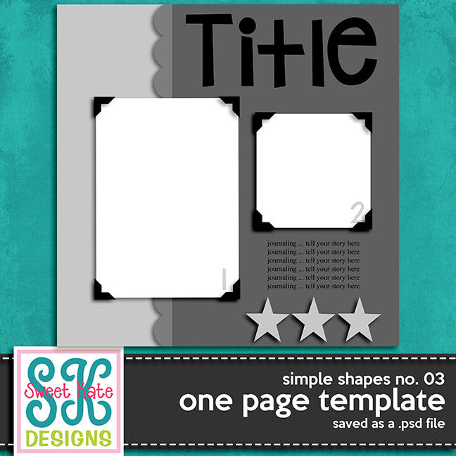 One Page Template Simple Shapes No. 03 - Sweet Kate Designs