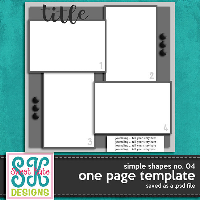 One Page Template Simple Shapes No. 04 - Sweet Kate Designs
