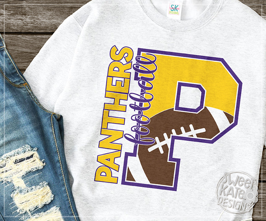 *NEW* P Panthers Football SVG DXF EPS PNG JPG - Sweet Kate Designs