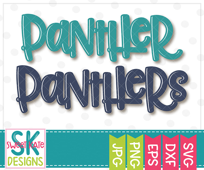Panther/Panthers SVG DXF EPS PNG JPG - Sweet Kate Designs