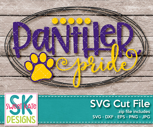 Panther Pride SVG DXF EPS PNG JPG