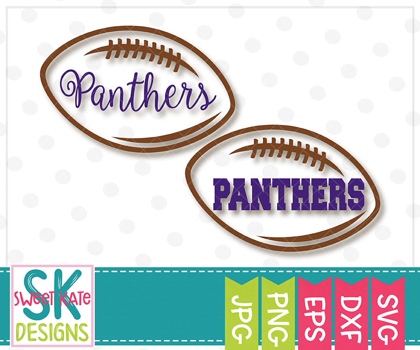 Panthers Football Outline SVG DXF EPS PNG JPG - Sweet Kate Designs
