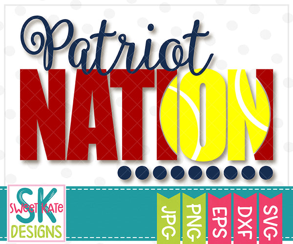*NEW* Patriot Nation with Knockout Tennis Ball SVG DXF EPS PNG JPG - Sweet Kate Designs