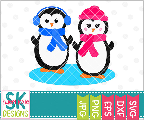 Penguin Couple - Sweet Kate Designs