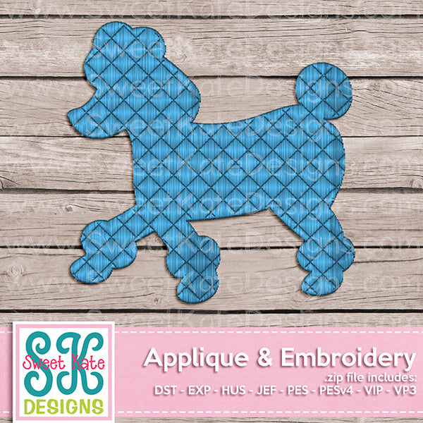 Poodle Mini Fill Stitch Embroidery - Sweet Kate Designs