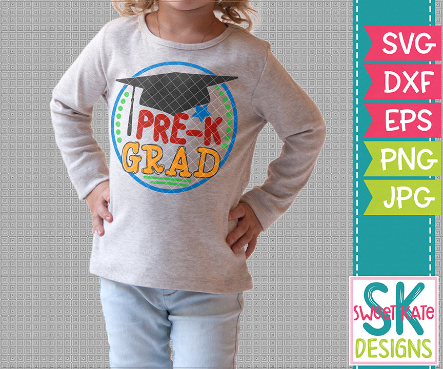 Pre-K Grad SVG DXF EPS PNG JPG - Sweet Kate Designs