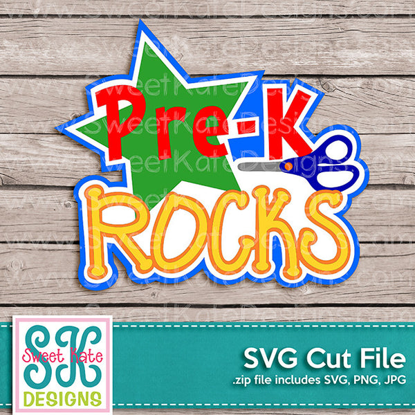 PreK Rocks SVG - Sweet Kate Designs