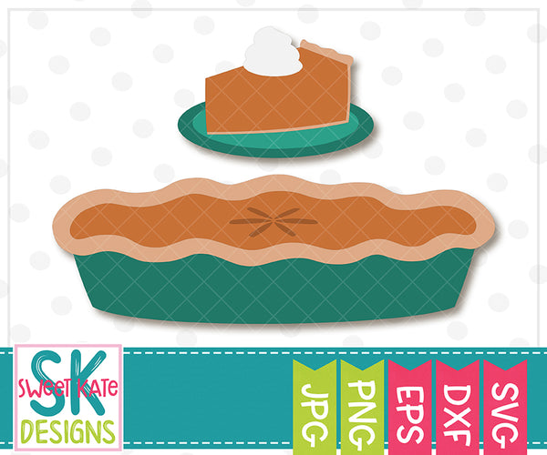 Pumpkin Pie SVG DXF EPS PNG JPG - Sweet Kate Designs