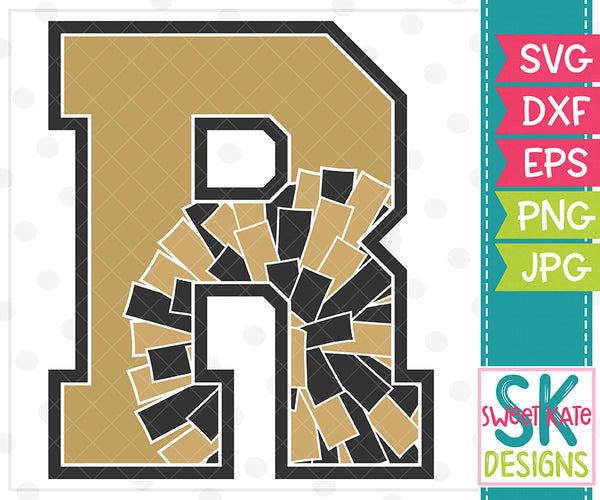 *NEW* R Cheer SVG DXF EPS PNG JPG - Sweet Kate Designs