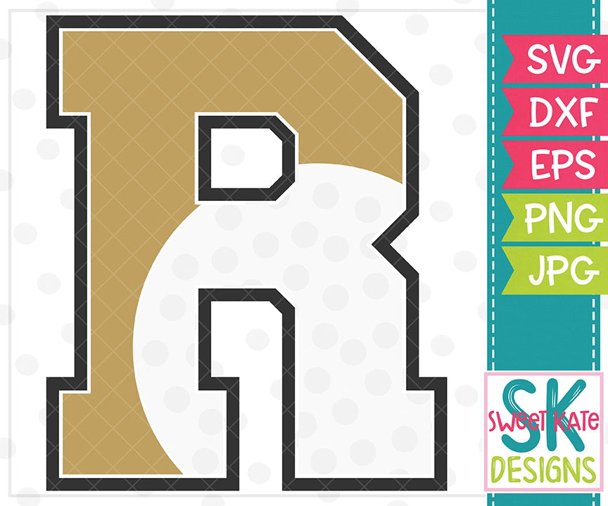 *NEW* R Golf SVG DXF EPS PNG JPG - Sweet Kate Designs