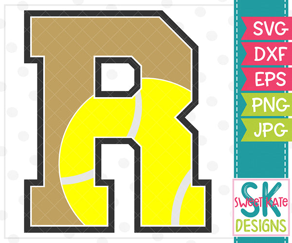 *NEW* R Tennis SVG DXF EPS PNG JPG - Sweet Kate Designs