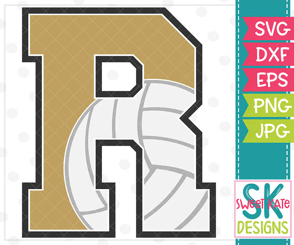 *NEW* R Volleyball SVG DXF EPS PNG JPG - Sweet Kate Designs