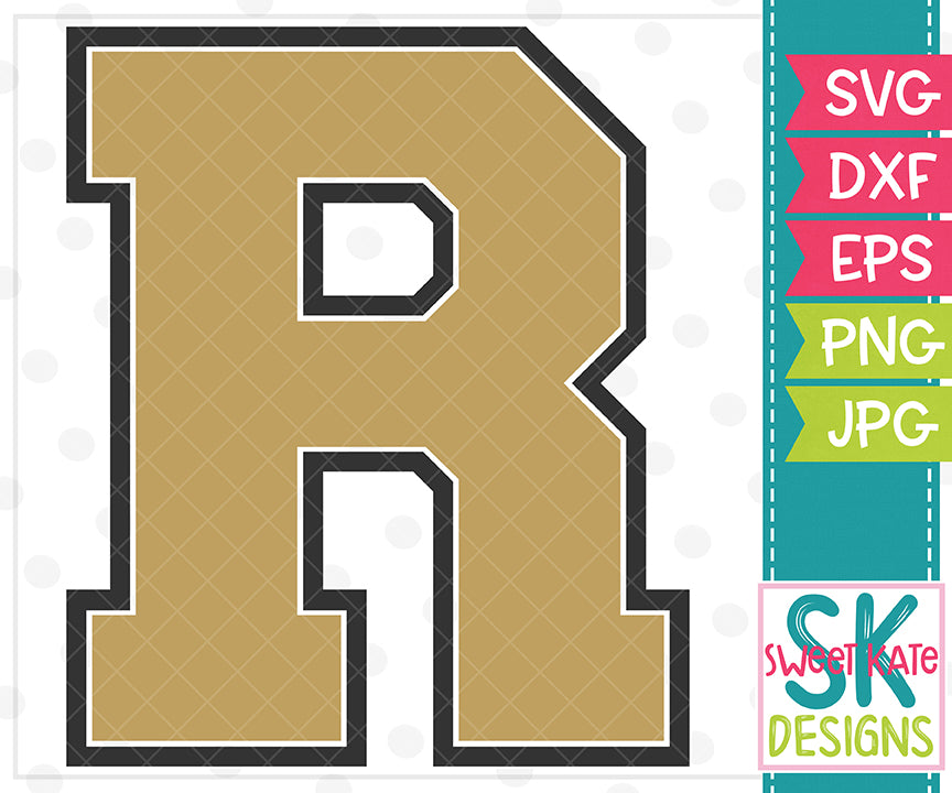 *NEW* R SVG DXF EPS PNG JPG - Sweet Kate Designs