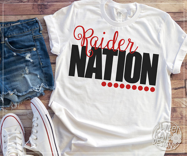 *NEW* Raider Nation Bundle SVG DXF EPS PNG JPG - Sweet Kate Designs