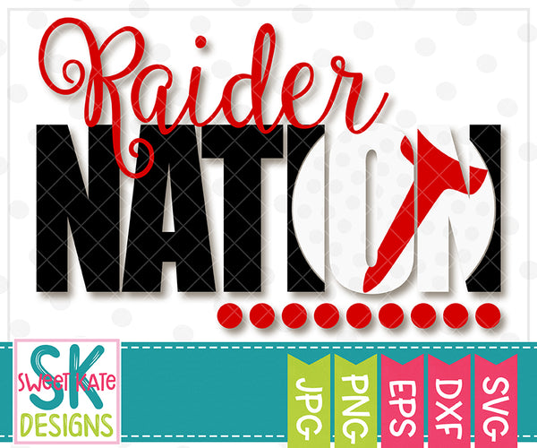 Raider Nation with Knockout Golf Ball SVG DXF EPS PNG JPG - Sweet Kate Designs