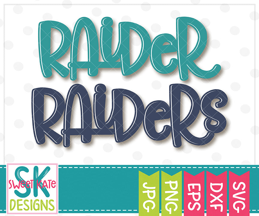 Raider/Raiders SVG DXF EPS PNG JPG - Sweet Kate Designs