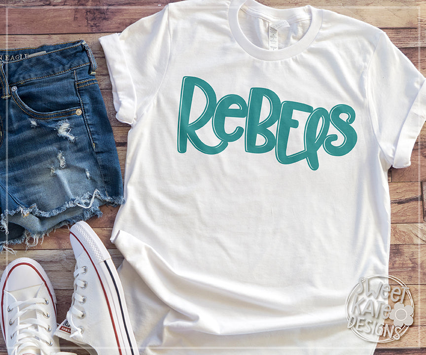 Rebel/Rebels SVG DXF EPS PNG JPG - Sweet Kate Designs