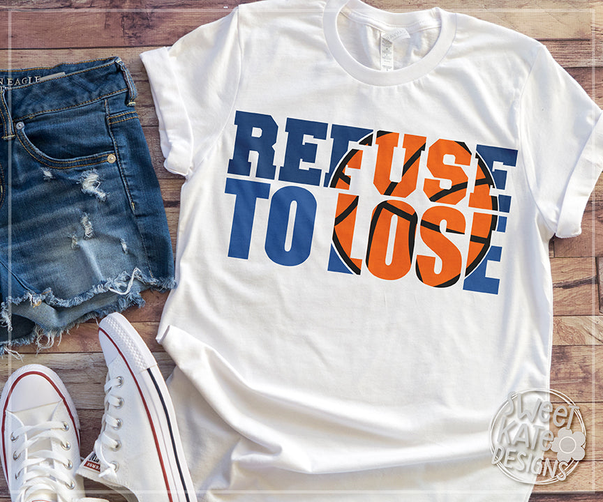 Refuse to Lose with Knockout Basketball SVG DXG EPS PNG JPG