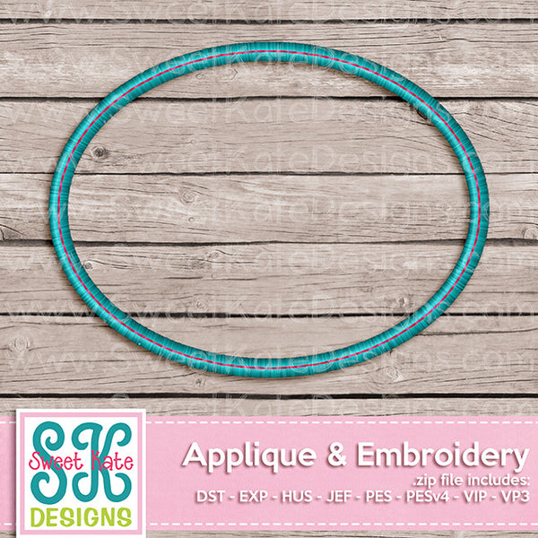 Simple Oval Monogram Frame