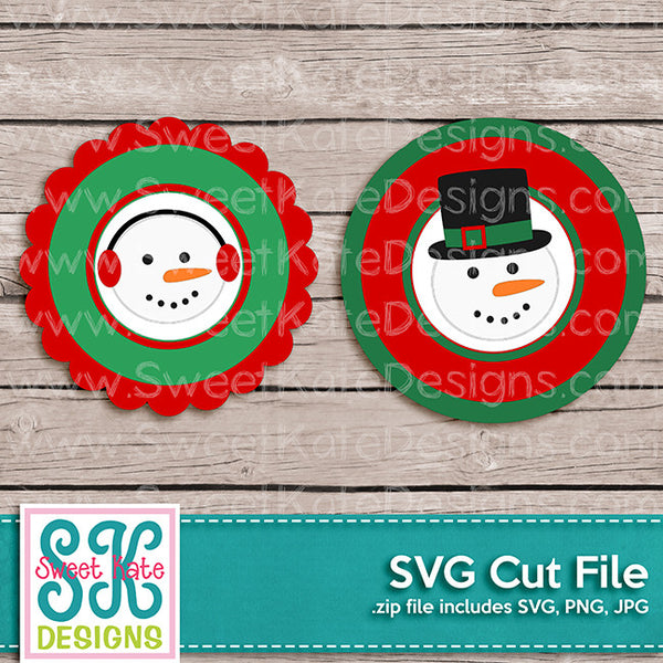 Snowman Flower Circle SVG - Sweet Kate Designs